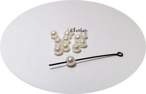 Perle albe 4mm PE030