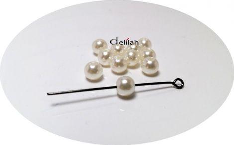 Perle albe 5mm PE029