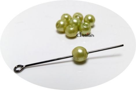 Margele acrilice verzi verde praz 5mm PE011
