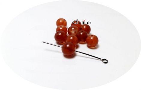 Perle de sticla nuanta roscat deschis PE026