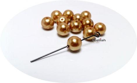 Perle de sticla aurii PE019