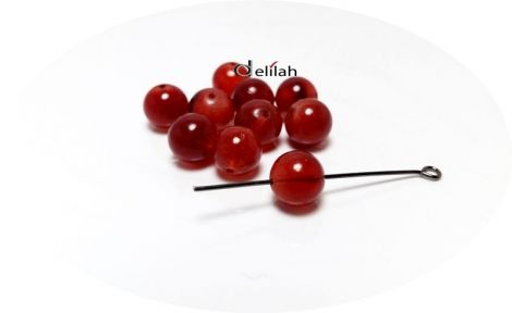 Perle de sticla maron roscat PE018