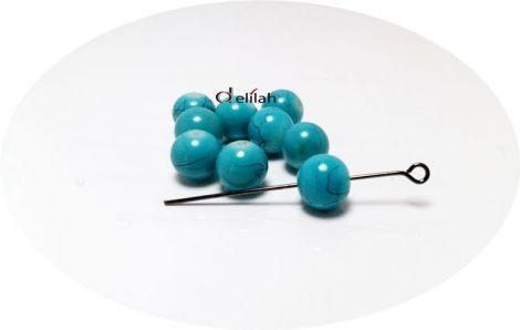 Perle de sticla albastre albastru turcoaz PE017