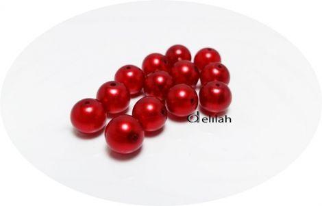 Perle de sticla rosii PE006