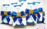 Invitatii botez baietel Royal Blue