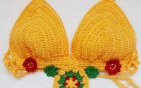 Bustiera handmade Soare si Flori