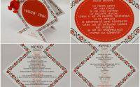 Numar de masa si meniu pentru eveniment romanesc