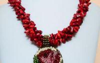 Set coral cu medalion