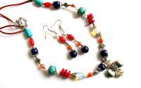 set coral turcoaz lapis lazuli si piatra lunii