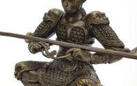 Meditator - statueta din bronz pe soclu din marmur