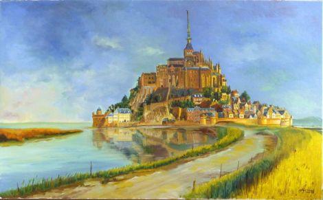 Tablou ulei pe panza Mont Saint-Michel