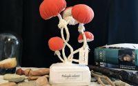 Ciuperci - sculptura textila
