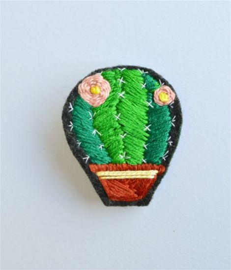 Brosa Brodata Cactus