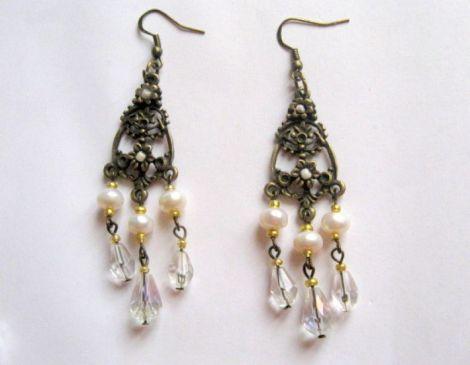cercei perle naturale si cristale