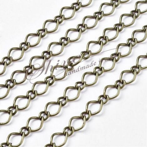 Lant metalic bronz 7x10mm