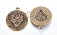 Pandantiv cap de leu bronz antichizat