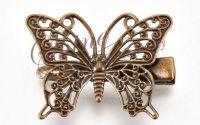 Agrafa de par cu fluture bronz antichizat