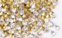 Strasuri rhinestone argintii 1.1mm 10buc