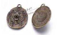 Pandantiv urs grizzly bronz antichizat