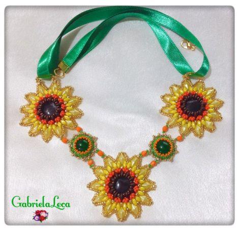 Colier Unicat Floarea Soarelui