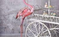 Pasare Flamingo din metal vopsit roz