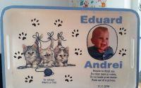 Tava pentru mot cu pisici si poza bebe