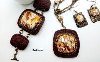 Stones set bijuterii din lut polimeric