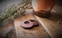 Cercei din lemnCercei rotunzi Ear drop earrings