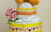 Tort din scutece pampers cadou botez aniversare