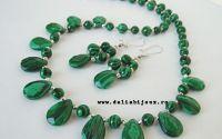 Set de bijuterii malachit