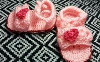 Sandale de vara crosetate