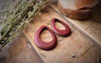 Cercei din lemn Ear drop earrings