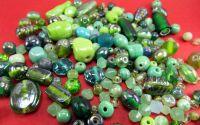 Margele sticla verzi diverse marimi