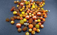 Margele sticla portocaliu diverse marimi