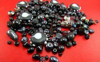 Margele sticla culoare neagra diverse marimi