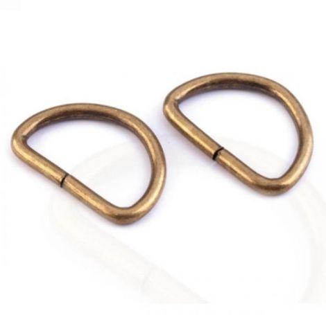 Inel metalic tip D 25 mm alama antica