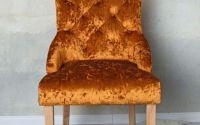 Scaun din lemn masiv natur cu tapiterie din catife