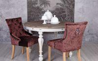 Scaun din lemn masiv natur cu tapiterie catifea