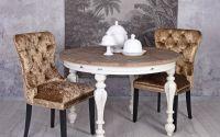 Scaun din lemn masiv cu tapiterie din catifea