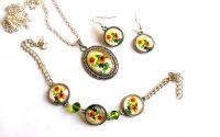 Set bijuterii floarea soarelui