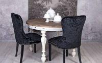 Scaun din lemn masiv negru cu tapiterie catifea
