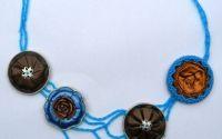 Colier reciclat Valuri Albastre