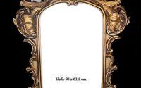 Oglinda din cristal cu o rama cu ingerasi