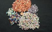 175g margele sticla gaurite diverse culori