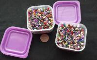 240g margele sticla + 2 cutii plastic