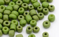 17g margele sticla - olive 4-5x3-4mm