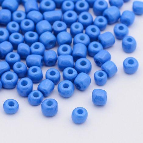 17g margele sticla - dodger-blue 4-5x3-4mm