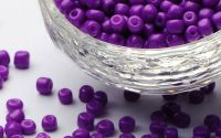 17g margele sticla - dark violet 4-5x3-4mm