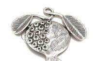 Pandantiv rodie placat cu argint 51x61x5.5mm