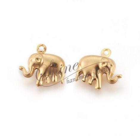 Charm elefant otel inoxidabil auriu
